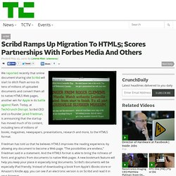 Scribd Ramps Up Migration To HTML5; Scores Partnerships With For