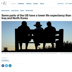 *****USA inequalities: Some parts of the US have a lower life expectancy than Iraq and North Korea