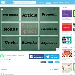 Play Parts of Speech Review by Brian Moser - Games on TinyTap