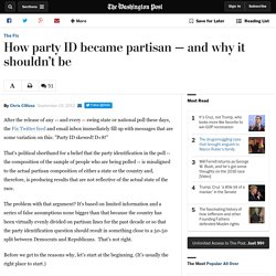 How party ID became partisan — and why it shouldn't be