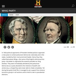 a history of the federalist party and the whigs The federalists, the party of alexander hamilton and john adams, were the party that favored  some former federalists became whigs, but there was no organizational  the term federalist when talking about early us history and today's.