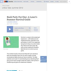 Book Party For One: A Loner's Summer Survival Guide
