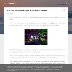 Your Party Planning Checklist A Month Prior To The Event