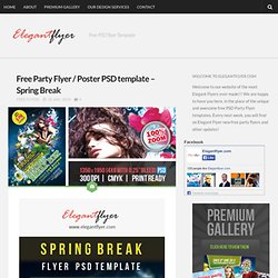 Free Party Flyer / Poster PSD template – Spring Break