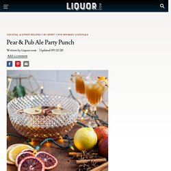 Pear & Pub Ale Party Punch Cocktail Recipe