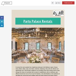 Party and Event Rentals Best Service – Party Place Rental