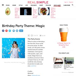 Birthday Party Theme: Magic