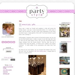 a. party style: xmas in july