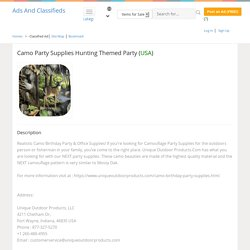 Camo Party Supplies at Unique Outdoor Products