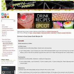Party Through The Parks - Epcot Drink Recipes