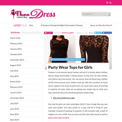 Party Wear Tops For Girls