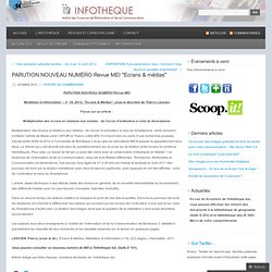 """presentation article MEI """"Ecrans/medias"""" Infothèque de l'ISIC"""