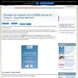 Parution du rapport sur la RdRD alcool en France / Guylaine Benech, février 2021