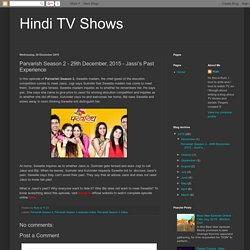 Parvarish Season 2 - 29th Dec 2015 Episode Online On SonyLiv