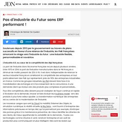 Pas d'Industrie du Futur sans ERP performant!