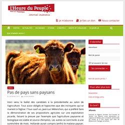 Pas de pays sans paysans - L'Heure du Peuple