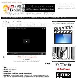 Pas Sage en Seine 2012 — Pas Sage en Seine