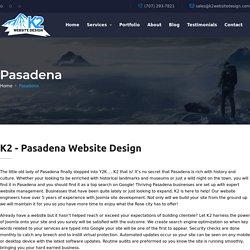 K2 - Pasadena Website Design / SEO / WordPress / Hosting