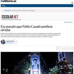 Ese pasado que Pablo Casado prefiere olvidar