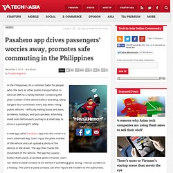 Pasahero app promotes safe commuting in the Philippines