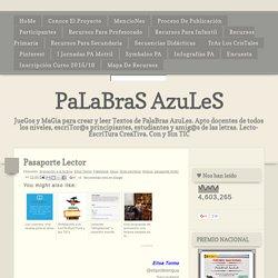 PaLaBraS AzuLeS: Pasaporte Lector