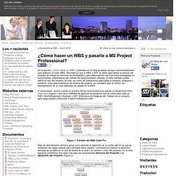 ¿Cómo hacer un WBS y pasarlo a MS Project Professional?