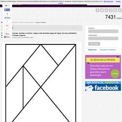 Tangram - Dibujalia - Dibujos para colorear-Pasatiempos-Puzzles y Rompecabezas-Tangram