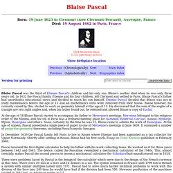 Pascal biography