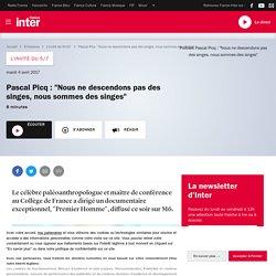 """Pascal Picq : """"Nous ne descendons pas des singes, nous sommes des singes"""""""