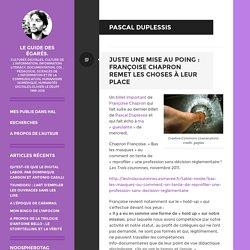 Pascal Duplessis – Le guide des égarés.