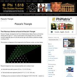 Pascal's Triangle and the Fibonacci Series