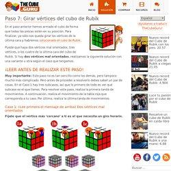Paso 7: Girar vértices del cubo de Rubik