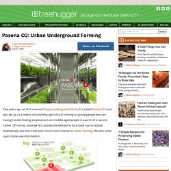 Pasona O2: Urban Underground Farming