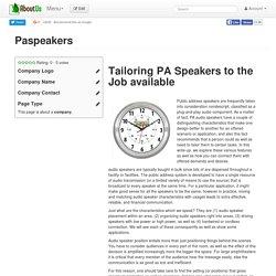 Paspeakers
