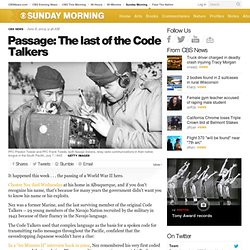 ​Passage: The last of the Code Talkers