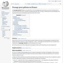 Passage pour piétons en France