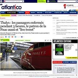 """Enfermé pendant 3 heures dans un Thalys, le patron de la Fnac """"live tweet"""""""