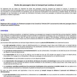 Droits des passagers dans le transport par autobus et autocar