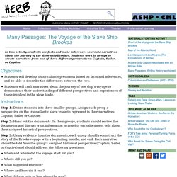 Many Passages: The Voyage of the Slave Ship Brookes · HERB: Resources for Teachers