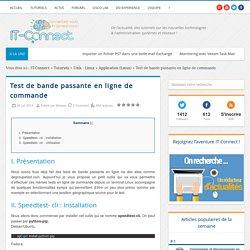 Test de bande passante en ligne de commande
