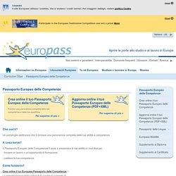 Passaporto Europeo delle Competenze
