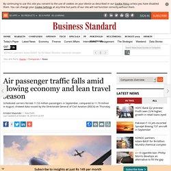 Air passenger traffic falls amid slowing economy and lean travel season