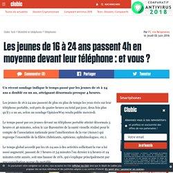 Les jeunes de 16 à 24 ans passent 4h en moyenne devant leur téléphone : et vous ?