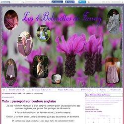 Tuto : passepoil sur couture anglaise - Les 4 Bobinettes de Fanny