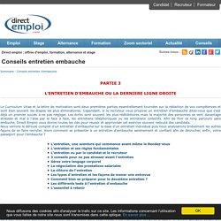 Passeport pour l'emploi - Conseils Entretien d'embauche - Direct Emploi