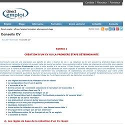 Passeport pour l'emploi - Conseils CV