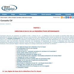 Passeport pour l'emploi - Conseils CV - Direct Emploi