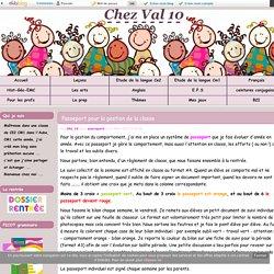Passeport pour la gestion de la classe - Chez Val 10