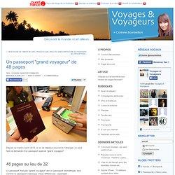 """Un passeport """"grand voyageur"""" de 48pages"""