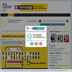 Passeport pour la voie techno - Onisep